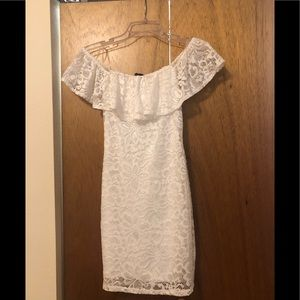 White lace dress!
